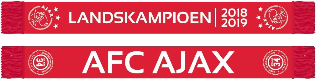 Afbeeldingen van Ajax Sjaal - Landskampioen 2018 / 2019