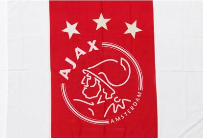 Afbeeldingen van Ajax Vlag Logo 3 sterren - rood/wit