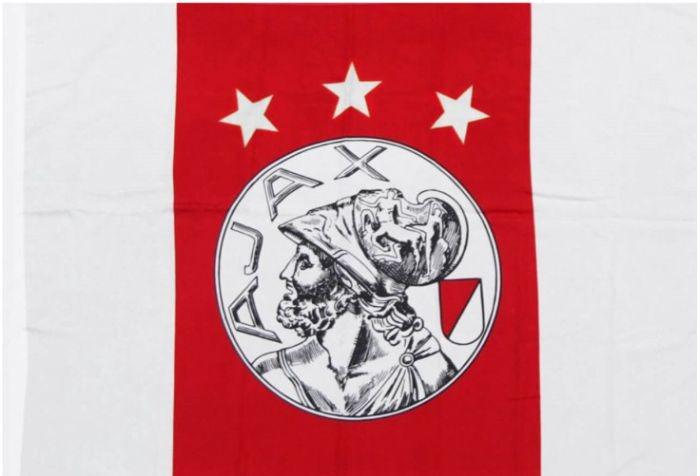Afbeeldingen van Ajax Vlag Oud Logo - rood/wit