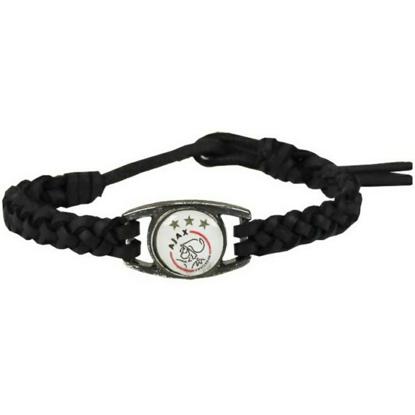 Afbeeldingen van Ajax Armbandje - Zwart Leder