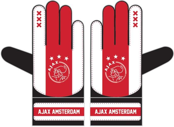 Afbeeldingen van Ajax Keepershandschoenen - wit/rood/wit