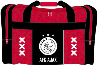 Afbeeldingen van Ajax Sporttas - rood met zwarte baan