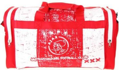 Afbeeldingen van Ajax Sporttas Grunge - rood/wit